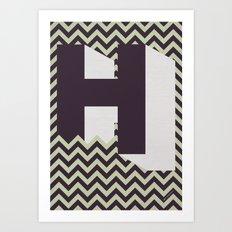 H. Art Print