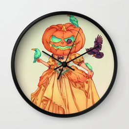LADY HALLOWEEN Wall Clock