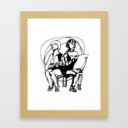 Busking poster Framed Art Print