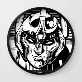 Giant 80s Robot Black and White Wall Clock