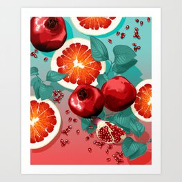SUMMER FRUITS Art Print