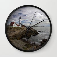 maine Wall Clocks featuring Maine Splendor by Catherine1970