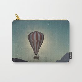 Exploring In A Steampunk Air Balloon Carry-All Pouch