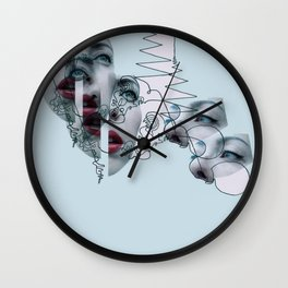 Split Head Wall Clock