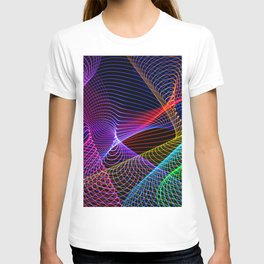 Rainbow Tornados Light Painting T-shirt
