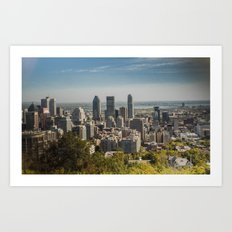 Montreal Skyline Light Art Print