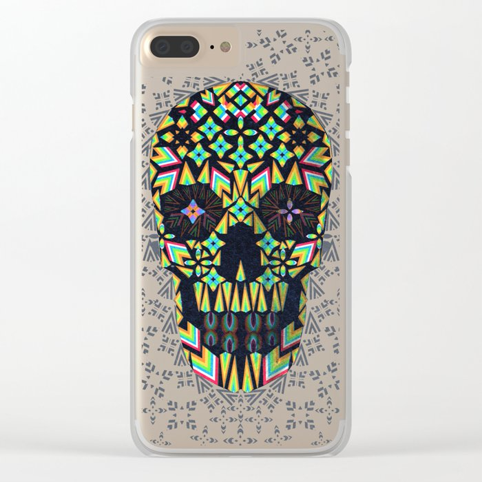 Skull 6 Clear iPhone Case