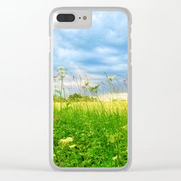 Summer Country Scene Clear iPhone Case