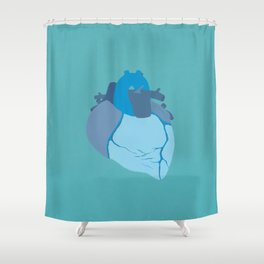 Melancholy Heart Shower Curtain