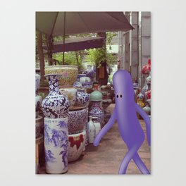 giro al mercato Canvas Print