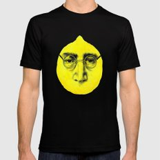 John Lemon Black MEDIUM Mens Fitted Tee