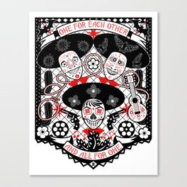 Amigos Forever Canvas Print
