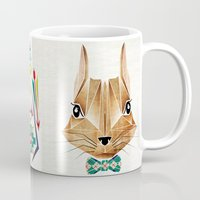 squirrel Mugs featuring squirrel by Manoou