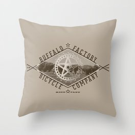 BUFFALO FACTORY Bicycle Company  Throw Pillow