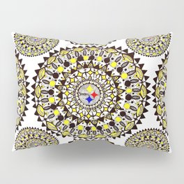 Football Themed Mandala Textile Pillow Sham