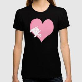 White Cat at Sunset  T-shirt