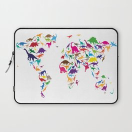 Dinosaur Map of the World Map Laptop Sleeve