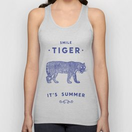 Smile Tiger, it's Summer Unisex Tank Top
