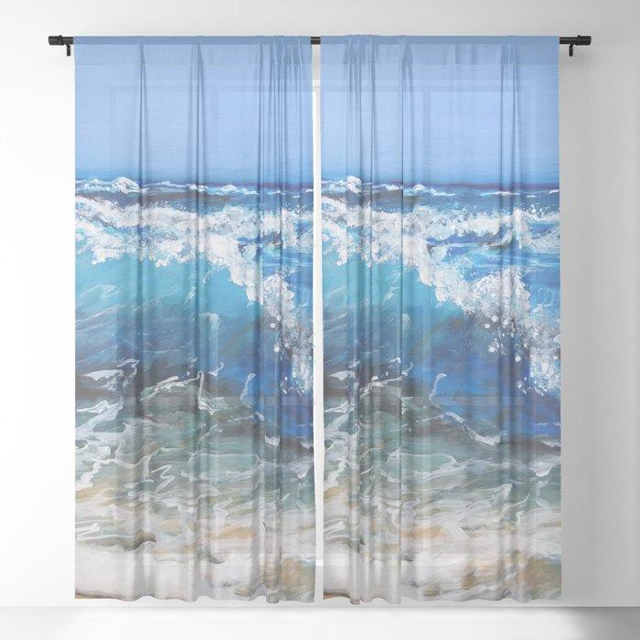 Rough Sea Sheer Curtain