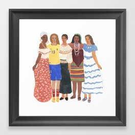 Ecuadorian Girls Framed Art Print
