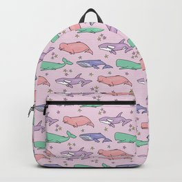 pastel whales Backpack