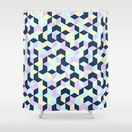 Jagged Colour Jumble Shower Curtain