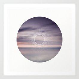 Where the sky touches the sea Art Print
