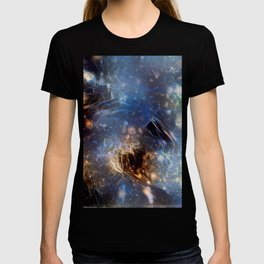 Fire and Blue Ice in the Sky - Abstract - Gift T-shirt