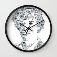 benedict cumberbatch Wall Clocks featuring Benedict Cumberbatch by Ron Goswami
