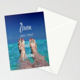 Dream Your Most Wonderful Dreams - Ocean Beach Swim - Boho Style - Corbin Henry Stationery Cards