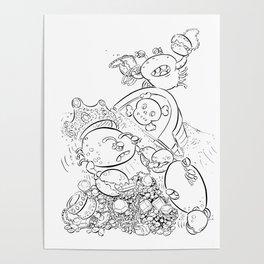 Buried Treasure - ink Poster