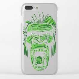 GORILLA KING KONG - Green Clear iPhone Case