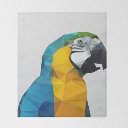 Geo - Parrot Throw Blanket