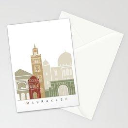 Marrakesh skyline poster Stationery Cards
