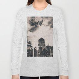Pike Place Market Dock City Reflection Long Sleeve T-shirt