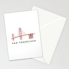 Golden Gate Bridge 2, San Francisco, California Stationery Cards