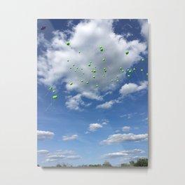 Lyme Green Balloon Launch - Ticks :( Metal Print