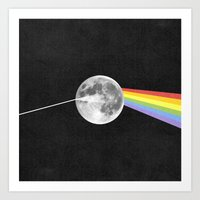dark side of the moon Art Prints featuring Dark Side of the Moon. by Nick Nelson