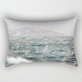 The Ocean in Winter Rectangular Pillow