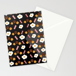Bacon, Egg & Muffin!! -DARK- Stationery Cards