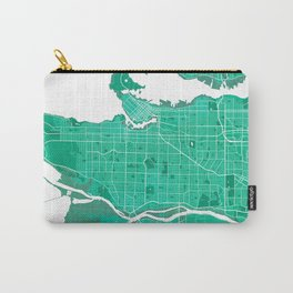 Vancouver City Map of Canada - Watercolor Carry-All Pouch