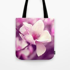 Lonely Flower - Radiant Orchid Tote Bag