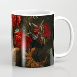 """Ernst Stuven """"Floral still life with Yellow-Bellied Toad and snake"""" Coffee Mug"""