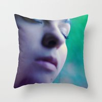 perfume Throw Pillows featuring perfume by mjdesignphoto