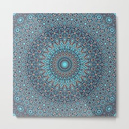 Tracery colorful pattern Metal Print