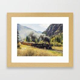 Steam Engine Locomotive Framed Art Print