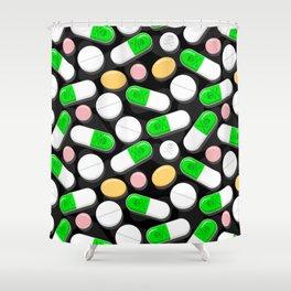 Deadly Pills Pattern Shower Curtain