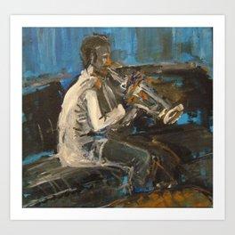 Trumpet Joe Art Print
