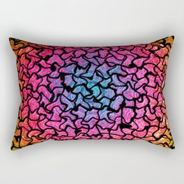 Vibrant Mosaic Tiled Circular Pattern Rectangular Pillow