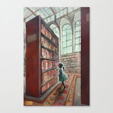 Exploring the Library Canvas Print